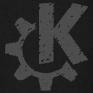 Design ~ Distressed Gray KDE logo
