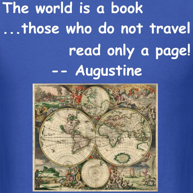 World is a book, 1 page?
