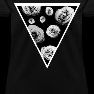 Design ~ Womens Rose Triangle Street Style T-Shirt