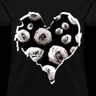 Design ~ Womens Rose Heart Street Style Fashion T-Shirt