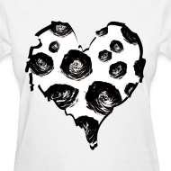 Design ~ Womens Rose Heart Street Style Fashion T-Shirt