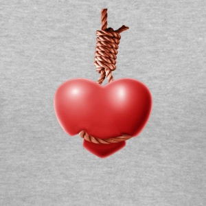 Lady's Hangin' Heart - Women's V-Neck T-Shirt