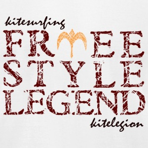 kitelegion_freestyle_legend_back1 T-Shirts - Men's T-Shirt by American Apparel