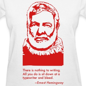 Ernest Hemingway Portrait & Quotation (Women's T-Shirt) - Women's T-Shirt