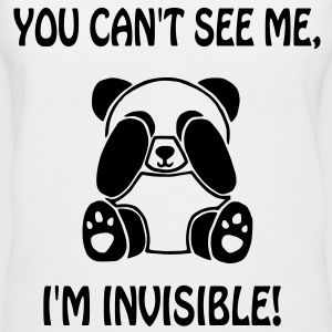 Invisible Panda - Women's V-Neck T-Shirt