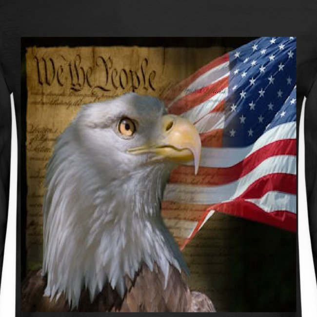 3afd271ac277c We The People American Eagle Flag Long Sleeve Heavy Weight T-Shirt w design