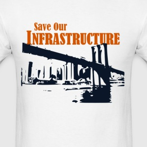 Save Our Infrastructure Brooklyn bridge - Men's T-Shirt