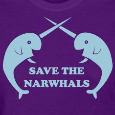 Save the Narwhals Women's T-Shirts