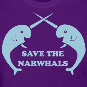 Save the Narwhals Women's T-Shirts - Women's T-Shirt