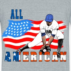 All American BaseBall player Catcher T-Shirts