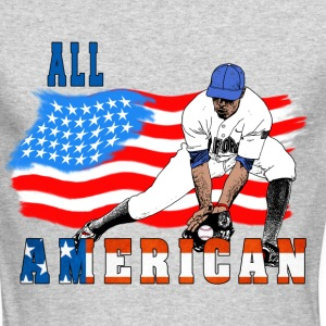 All American BaseBall player Catcher Long Sleeve Shirts - Men's Long Sleeve T-Shirt by Next Level