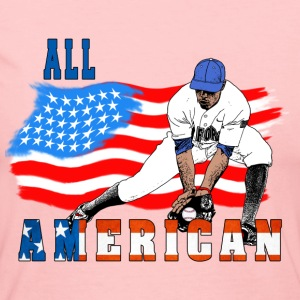 All American BaseBall player Catcher Long Sleeve Shirts - Women's Long Sleeve Jersey T-Shirt