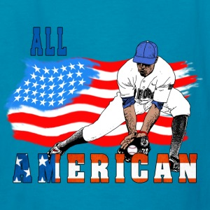 All American BaseBall player Catcher Kids' Shirts - Kids' T-Shirt
