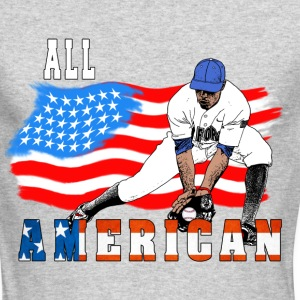 All American BaseBall player Catcher white Long Sleeve Shirts - Men's Long Sleeve T-Shirt by Next Level