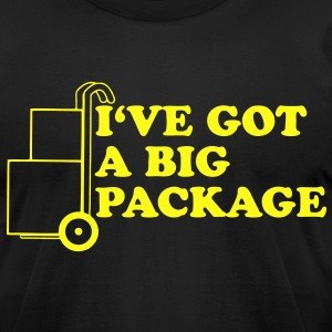 I'VE GOT A BIG PACKAGE T-Shirts - Men's T-Shirt by American Apparel