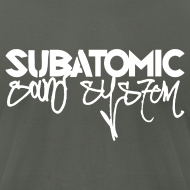 Design ~ Subatomic Sound System white graffiti logo