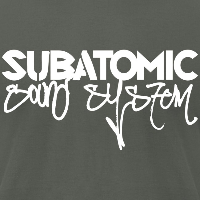 Subatomic Sound System white graffiti logo
