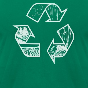 Recycle White Tee - Men's T-Shirt by American Apparel