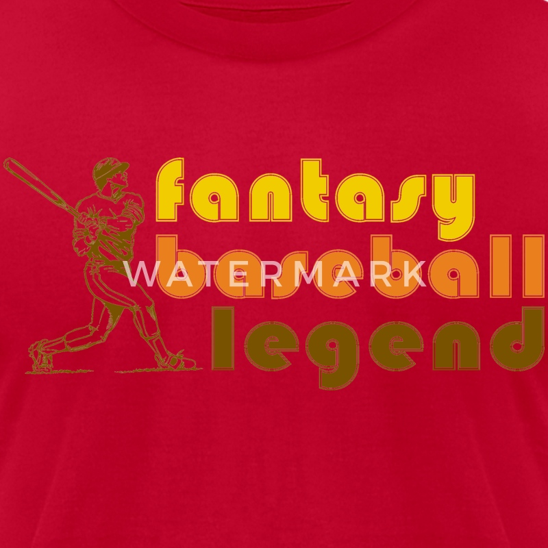 Fantasy Baseball Legend T-Shirts - Men's T-Shirt by American Apparel