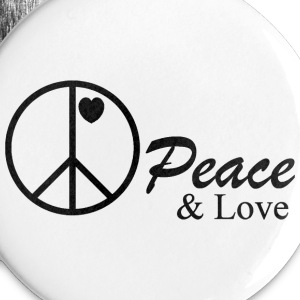 peace and love Buttons - Large Buttons