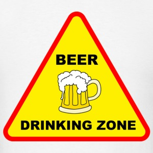 beer drinking zone - Men's T-Shirt