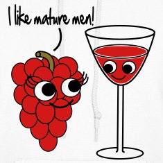 """I like mature men"" Grape / Wine Vector Design Hoodies"