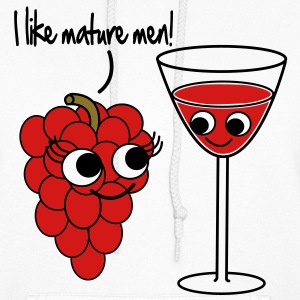 I like mature men Grape / Wine Vector Design Hoodies - Women's Hoodie