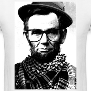 Hipster Lincoln - Men's T-Shirt