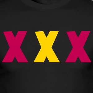TRIPLE XXX X rated three  Long Sleeve Shirts - Men's Long Sleeve T-Shirt by Next Level