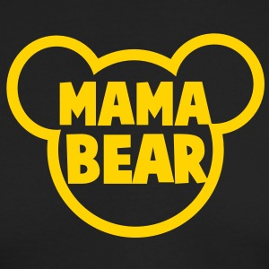 MAMA BEAR in a teddy shape super cute! Long Sleeve Shirts - Men's Long Sleeve T-Shirt by Next Level