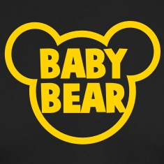 BABY BEAR in a teddy shape super cute! Long Sleeve Shirts