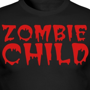 zombie child with bloody font red Long Sleeve Shirts - Men's Long Sleeve T-Shirt by Next Level