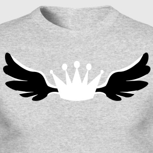a winged royalty king crown Long Sleeve Shirts - Men's Long Sleeve T-Shirt by Next Level