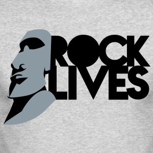 EASTER ISLAND STATUE ROCK LIVES! Long Sleeve Shirts - Men's Long Sleeve T-Shirt by Next Level
