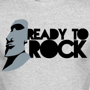 EASTER ISLAND STATUE READY TO ROCK Long Sleeve Shirts - Men's Long Sleeve T-Shirt by Next Level