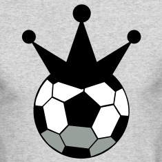 soccer ball sports king with crown Long Sleeve Shirts