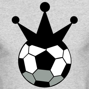 soccer ball sports king with crown Long Sleeve Shirts - Men's Long Sleeve T-Shirt by Next Level