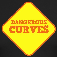 DANGEROUS CURVES warning sexy sign Long Sleeve Shirts