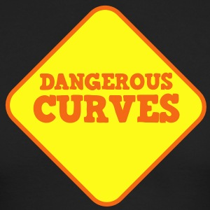 DANGEROUS CURVES warning sexy sign Long Sleeve Shirts - Men's Long Sleeve T-Shirt by Next Level