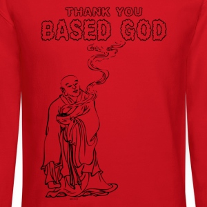 Thank You Based God - Buddha Smoke Long Sleeve Shirts - Crewneck Sweatshirt