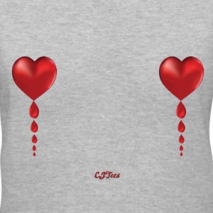 Lady's V Heart Balloons! - cheaper! - Women's V-Neck T-Shirt