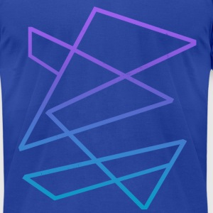 Kinetic (Light Blue, Purple Gradient) - Men's T-Shirt by American Apparel