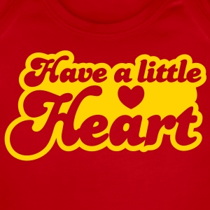 have a little heart love heart funky font Baby Bodysuits - Short Sleeve Baby Bodysuit