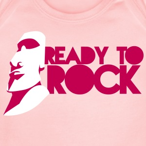 EASTER ISLAND STATUE READY TO ROCK Baby Bodysuits - Short Sleeve Baby Bodysuit
