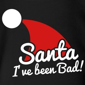 santa I've been bad NAUGHTY! Baby Bodysuits - Short Sleeve Baby Bodysuit
