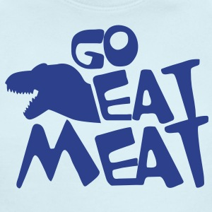 GO EAT MEAT anti-vegetarian tyrannosaurus rex Baby Bodysuits - Short Sleeve Baby Bodysuit