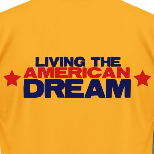 LIVING THE AMERICAN DREAM stars T-Shirts - Men's T-Shirt by American Apparel