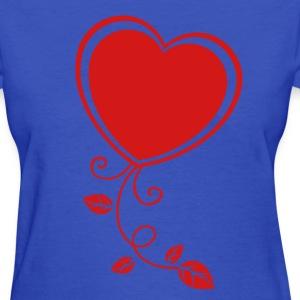 Heart with Floral 1 Women's T-Shirts - Women's T-Shirt