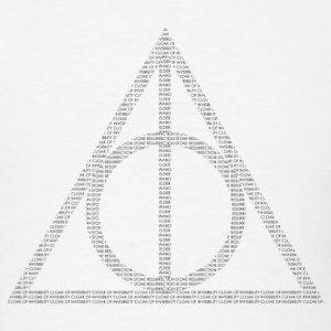 Typographic Deathly Hallows - Men's T-Shirt