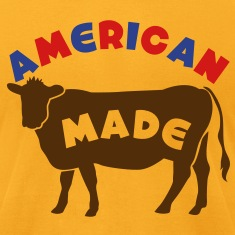 AMERICAN MADE beef cow T-Shirts